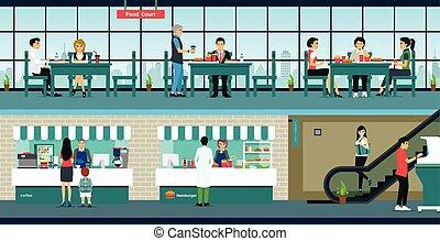 jeûne, restaurant, nourriture