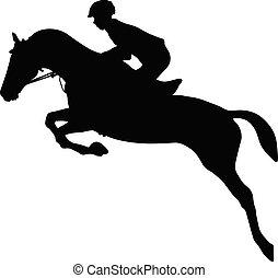 jeździec, koń, equestrianism