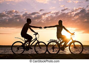 jeżdżenie, bicycles