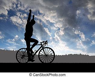 jeżdżenie rower, rowerzysta, droga