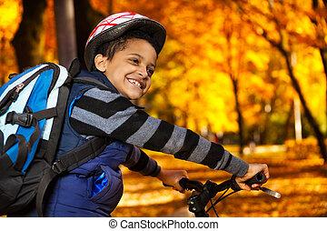 jeżdżenie szkoła, rower