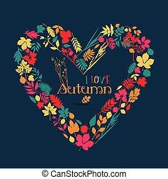 je, amour, autumn.
