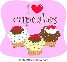 je, amour, petits gâteaux