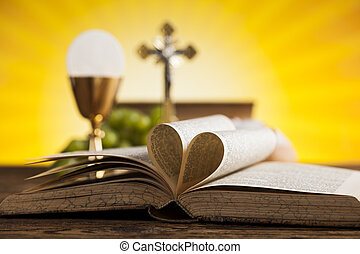 je, amour, religion, pour, christianisme, fond