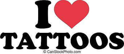 je, amour, tatouages