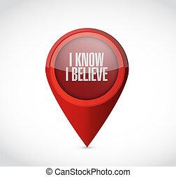 je, savoir, je, croire, indicateur, signe, illustration