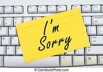 je suis, désolé