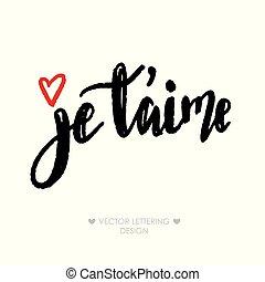 Je taime I love you in french
