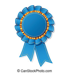 Detailed vector illustration of a jean award ribbon