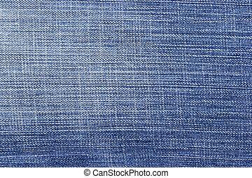 jean azul, fundo, e, textura, parcial, pálido, de, calças...