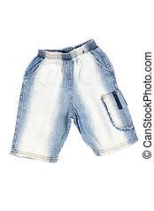 jean azul, shorts