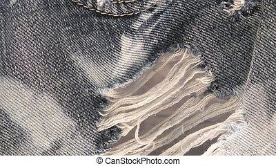 jean, blanchi, porté