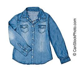 jean blu, camicia