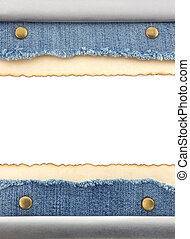 jean blu, carta, vecchio
