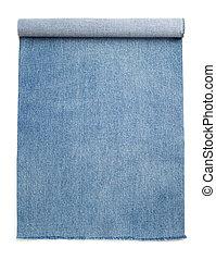 jean blu, isolato, bianco