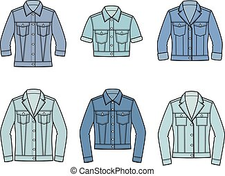 Jean jacket - Vector illustration of jean jacket. Clothes in...