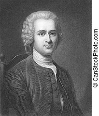 Jean-Jacques Rousseau (1712-1778) on engraving from the...