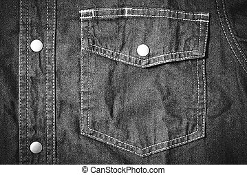jean pocket black and white tone color style