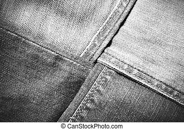 jean texture black and white tone color style
