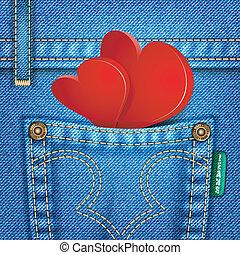jean, texture, valentin