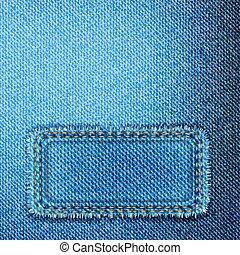 jean, vecteur, texture.