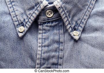 jean, vieux, chemise, porté
