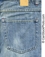 Jeans back pocket with patch for logo designs