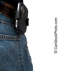 Jeans Back Pocket with PDA on hip - A PDA (Windows Mobile...