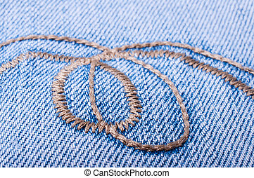 Jeans background close up