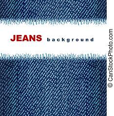 Jeans background. Vector illustration.