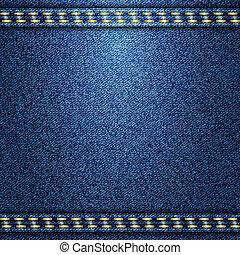 Jeans background. Vector texture. Fabric textile design.