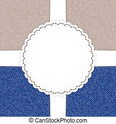 Jeans blue and brown card template
