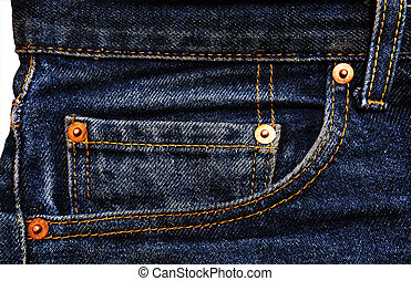 Jeans denim cotton material with details accessories