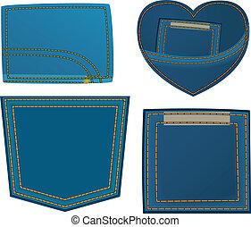 Jeans design element - The jeans design element set