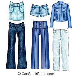 jeans esconderijos, roupas