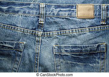 jeans, etiket