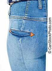 jeans, ficka