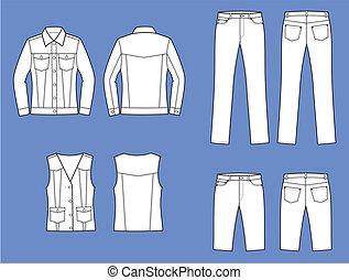 jeans, ha på sig