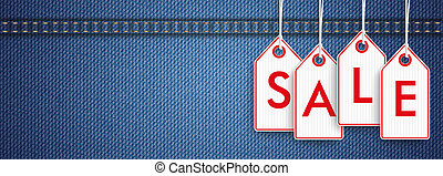 Jeans Header Price Stickers Sale