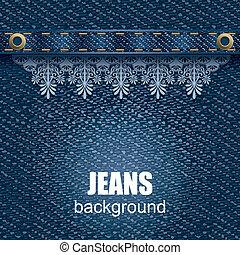 jeans, hintergrund
