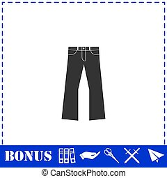 Jeans icon flat