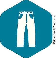 Jeans icon, simple style