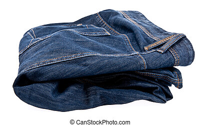 Jeans isolated on white