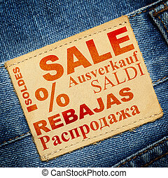 Jeans label - Sale