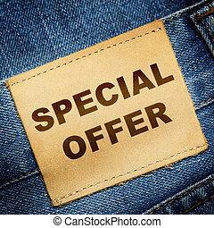 Jeans label SPECIAL OFFER