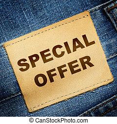 Jeans label SPECIAL OFFER
