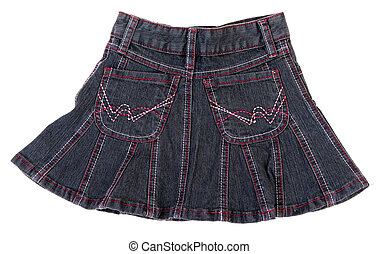 Jeans mini skirt isolated