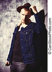 jeans, occidentale, vestiti