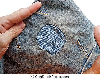 jeans, pezza