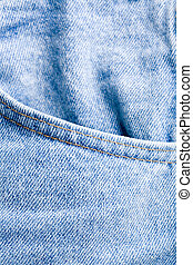 jeans pocket - closeup of blue jeans